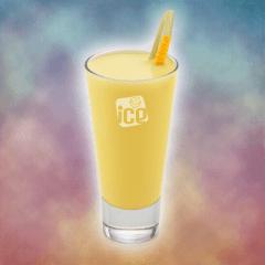 Ice Cappuccino (Cappuccino Gelado) + Ice Milho Verde (Suco de Milho Verde)